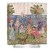 Promenade Shower Curtain by Maurice Brazil Prendergast