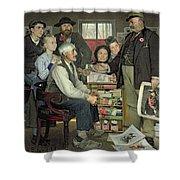 Propaganda Shower Curtain by Jean Eugene Buland