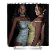 Provocative Flirt Shower Curtain by Alexander Butler