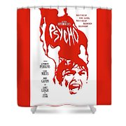 Psycho Shower Curtain by Ron Regalado