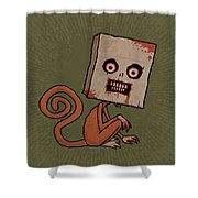 Psycho Sack Monkey Shower Curtain by John Schwegel
