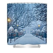 Public Garden Walk Shower Curtain by Susan Cole Kelly