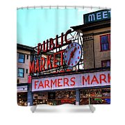 Public Market II Shower Curtain by David Patterson