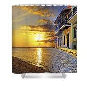 Puerto Rico Montage 1 Shower Curtain by Stephen Anderson