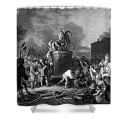 Pulling Down The Statue Of George IIi Shower Curtain by War Is Hell Store