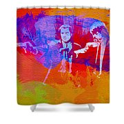 Pulp Fiction 2 Shower Curtain by Naxart Studio
