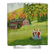 Puppy Love Shower Curtain by Charlotte Blanchard