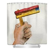 Purim Rattle  Shower Curtain by Annemeet Hasidi- van der Leij