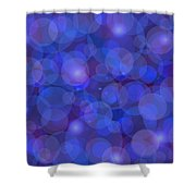 Purple And Blue Abstract Shower Curtain by Frank Tschakert