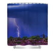 Purple Desert Storm Shower Curtain by James BO  Insogna
