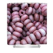 Purple Fish Net Floats Shower Curtain by Frank Tschakert