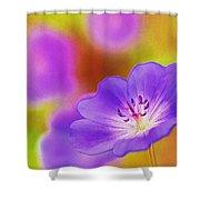 Purple Geranium Shower Curtain by Lanjee Chee