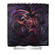 Purple Passion Shower Curtain by Nadine Rippelmeyer