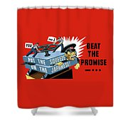 Put The Squeeze On The Japanese Shower Curtain by War Is Hell Store