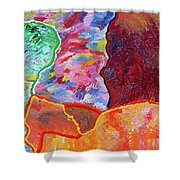 Puzzle Shower Curtain by Ralph White