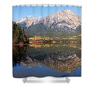 Pyramid Mountain And Pyramid Lake 2 Shower Curtain by Larry Ricker