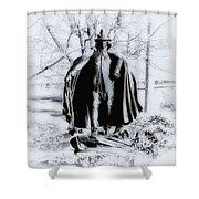 Quaker Pilgrim Shower Curtain by Bill Cannon