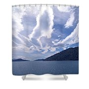 Queen Charlotte Sound Shower Curtain by Kevin Smith