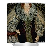 Queen Elizabeth I Shower Curtain by John the Younger Bettes