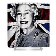 Queen Elizabeth II Shower Curtain by Luis Ludzska