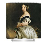 Queen Victoria Shower Curtain by Franz Xaver Winterhalter