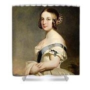 Queen Victoria Shower Curtain by Franz Xavier Winterhalter