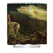 Quest for the Holy Grail Shower Curtain by Arthur Hughes