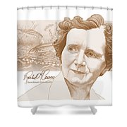 Rachel Carson Shower Curtain by John D Benson