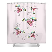 Rainbow Berries Shower Curtain by Anastasiya Malakhova