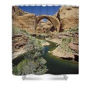 Rainbow Bridge Upstream Shower Curtain by Jerry McElroy
