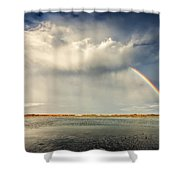 Rainbow Shower Curtain by Evgeni Dinev