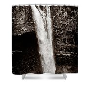 Rainbow Falls 2 - Sepia Shower Curtain by Christopher Holmes
