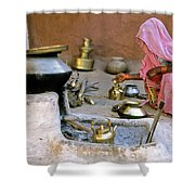 Rajasthani Woman Shower Curtain by Michele Burgess