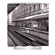 Randolph Street Station Chicago Shower Curtain by Steve Gadomski