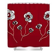 Ranunculus Shower Curtain by Frank Tschakert