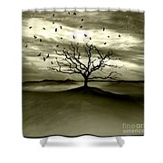 Raven Valley Shower Curtain by Photodream Art