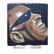Ray Charles Shower Curtain by Toni Berry