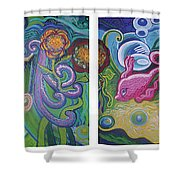 Reciprocal Liason Of The Sea Shower Curtain by Genevieve Esson