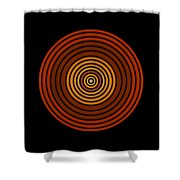 Red Abstract Circle Shower Curtain by Frank Tschakert