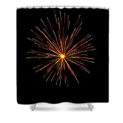 Red Burst Shower Curtain by Phill  Doherty