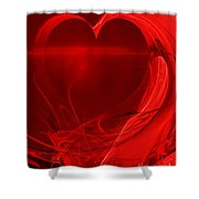 Red Love . A120423.279 Shower Curtain by Wingsdomain Art and Photography