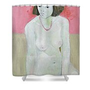 Red Necklace Shower Curtain by Endre Roder