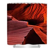 Red Rock Inferno Shower Curtain by Mike  Dawson