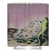Red Sky Shower Curtain by Dale Beckman