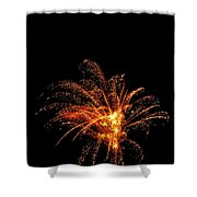 Red Splash Shower Curtain by Phill Doherty