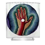 Red Tree Shower Curtain by Arla Patch
