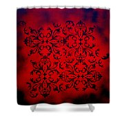 Red Velvet By Madart Shower Curtain by Megan Duncanson