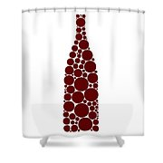 Red Wine Bottle Shower Curtain by Frank Tschakert