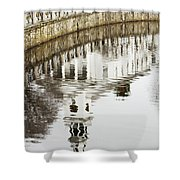 Reflections Of Church Shower Curtain by Karol  Livote