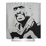 Reggie Shower Curtain by Lynet McDonald